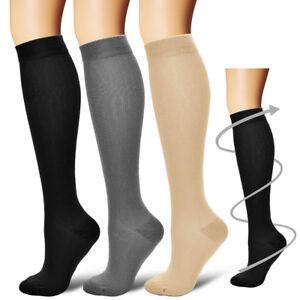Women-039-s-Men-039-s-Compression-Socks-Running-Medical-15-20-mmHG-3-COLORS-BEST-SOCKS