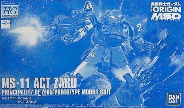 BANDAI HG 1 144 MS-11 ACT ZAKU Plastic Model Kit Gundam THE ORIGIN MSV NEW