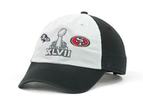 c90da446a470d 47 BRAND NFL Superbowl XLVII Dueling Hat Cap Baltimore Ravens SanFrancisco  49ers for sale online