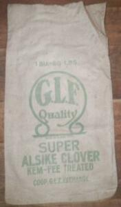 Feed-Sack-Seed-Bag-Super-Alsike-Clover-GLF-Quality-Kem-Fee-Advertising-As-Is