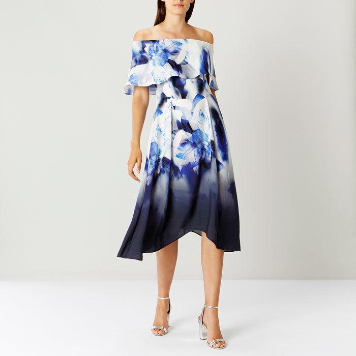 Coast Coast Coast Idole bluee Multi Print Brooke Midi Dress Sizes c48786