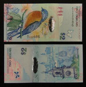 """Bermuda Billet 2 Dollars 2009 UNC Prefix """"A/2"""""""