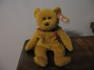 b1e3a1fab4f Image is loading RARE-Curly-the-Bear-Ty-Beanie-Baby-With-