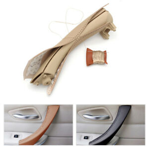 Inner-Door-Handle-Leather-Cover-Hand-Sewing-For-BMW-3-Series-E90-E91-E93-05-12