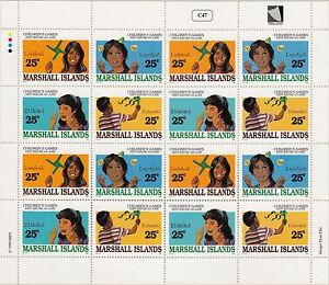 MARSHALL ISLANDS : 1990 Children' Games sheetlet SG309a x 4 MNH