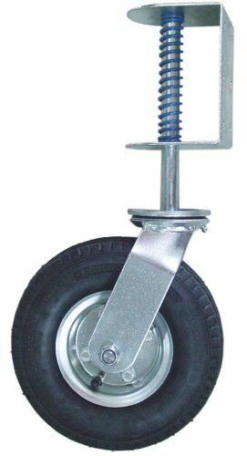 Gate Caster Pneumatic Wheel 200 lb Load Capacity Provides Smooth Movement Black