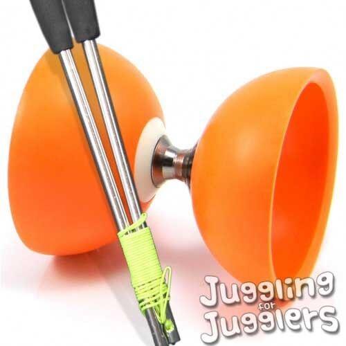 aluminium handsticks Juggle Dream triple bearing Cyclone diabolo Orange