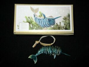 Pier-1-Cloisonne-Enameled-Swordfish-Articulated-Hanging-Christmas-Ornament-NIB