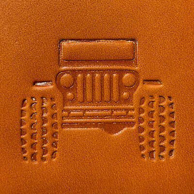 "Delrin 2/"" Jeep Grille Leather Embossing Stamp Clicker Stamp CJ JK TJ YJ XJ"