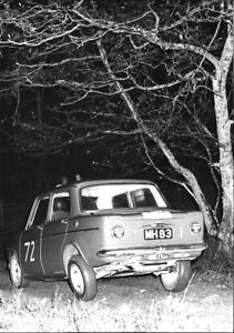 Image Is Loading SIMCA 1000 MIKE HINDE RAC RALLY PERIOD PHOTOGRAPH