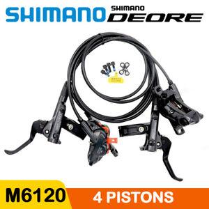 SHIMANO Deore BR-M6120 BL-M6100 Bike 4-Piston MTB Hydraulic Disc Brake Set OE