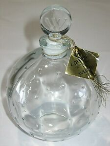 "Antiques Vintage Worth Star Perfume Bottle Je Reviens Star Bottle 12 Oz Factice 5 1/2"""