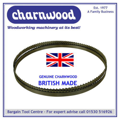 "GENUINE BRITISH MADE CHARNWOOD BB20 BANDSAW BLADE 1712MM X 1//4/""  X 6TPI FOR W715"