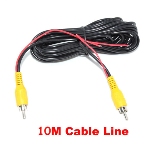 10M 33FT Car RCA AV Rear View Backup Camera Video Cable Cord With Red Trigger