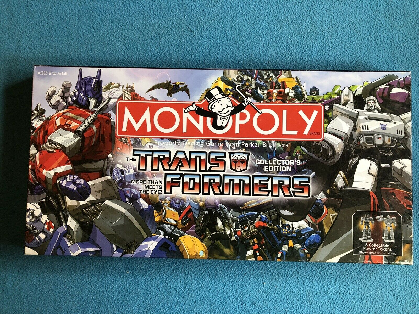 Monopoly Transformers Board Game Collector's Edition Hasbro 2007 100% complet   livraison rapide