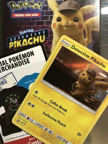 Detective Pikachu Movie 2019 Promo 2 Card Pack SM190 Pokemon New Sealed