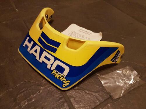 NOS BMX HARO RACING AERO  HELMET PEAK YELLOW AND BLUE NIP OLD SCHOOL