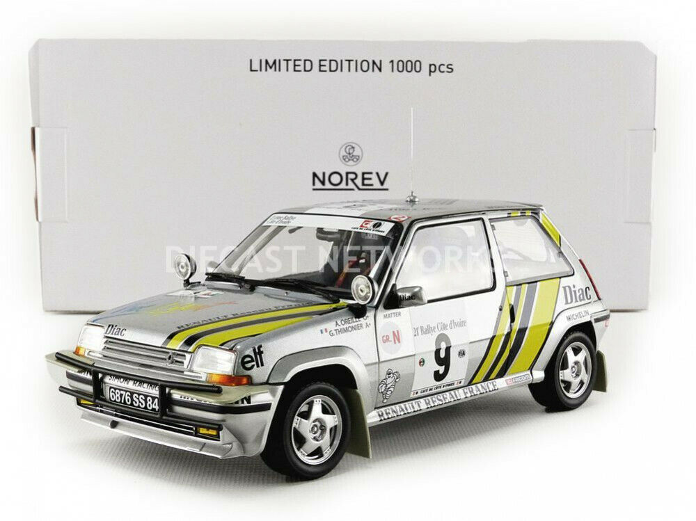 NOREV - 1 18 - RENAULT 5 GT TURBO - RALLYE DE COTE IVOIRE 1989 - 185198