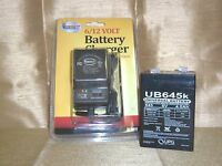 6volt 4.5ah Rechargeable Game Feeder Camera Toy Sla Battery & 6v /12v Ac Charger