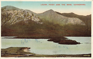 Lough Inagh And The Bens - Connemara Photo Postcard 1947