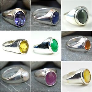 Gemsonclick Amethyst 925 Silver Ring 5 Carat Chakra Healing February Stone Size 5,6,7,8,9,10,11,12,13