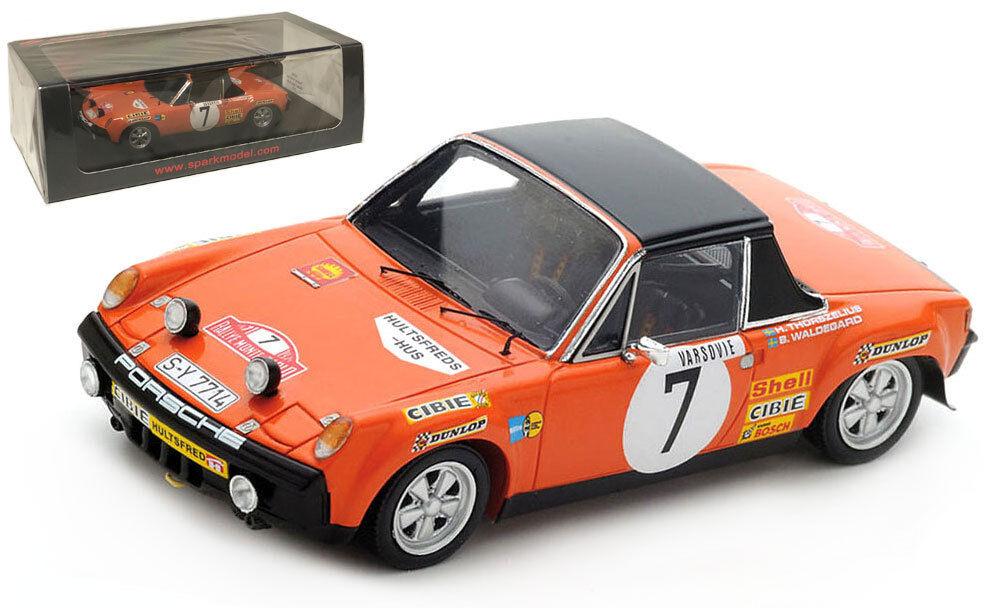 SPARK SPARK SPARK S5582 PORSCHE 914 6  7 3rd Rallye Monte Carlo 1971-B Waldegard échelle 1 43 87043e