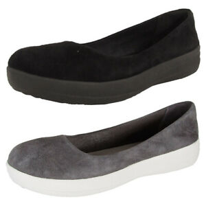 FitFlop Womens F-Sporty Ballerina Suede