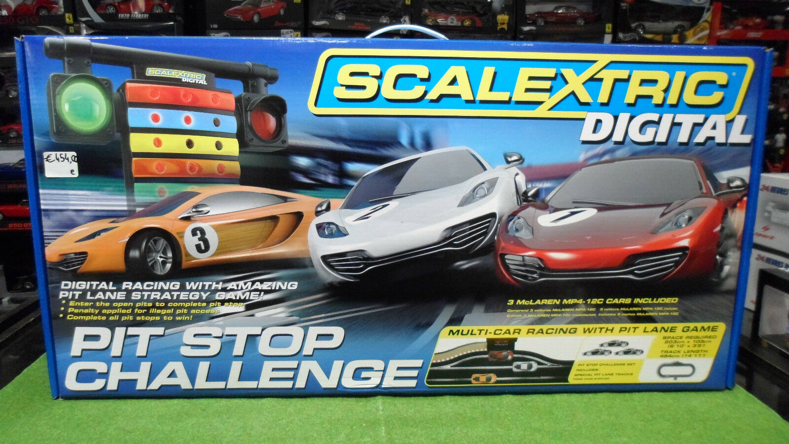 COFFRET CIRCUIT ELECTRIC SLOT DIGITAL PIT STOP McLAREN 1 32 SCALEXTRIC C1296