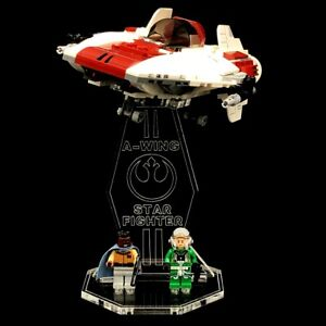 Acryl-Display-Stand-Acrylglas-Standfuss-fuer-LEGO-75175-A-Wing-Starfighter