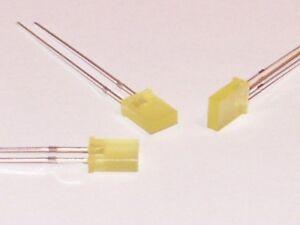 Gloeilampen, LED-lampen S553-50 Stück LED flach rechteckig 2x5mm grün green LEDs diffus 2x5x7mm