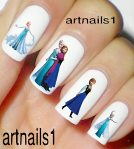 Frozen-Disney-Nail-Elsa-Art-Water-Decals-Stickers-Manicure-Salon-Mani-Polish