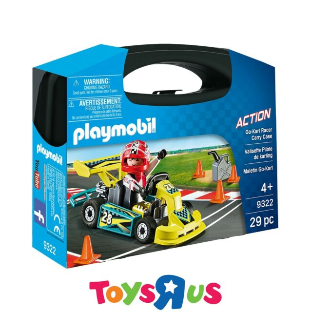 Playmobil 9322 Action Playset - Go Kart Racer Carry Case