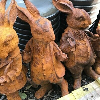 CLEARANCE Rabbit Hare Cast Iron Charismatic Woodland Creature Garden Statue