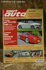 Sport Auto 8/08 Audi TTS KTM X-Bow Fiat 500 Abarth