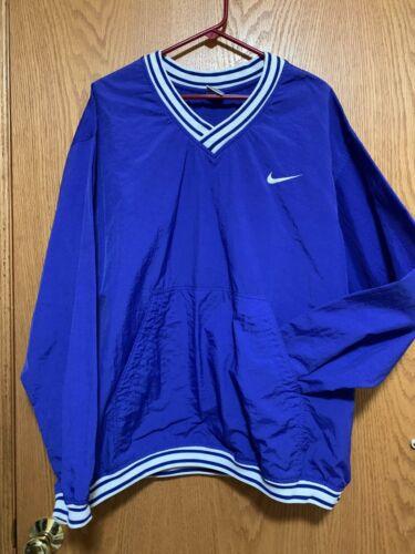 Vintage NIKE Windbreaker Pullover Jacket Blue Whit