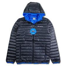 COLUMBIA Mens  Hooded  Down Jacket Coat Size XL 650 Black New