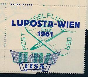 76236-Luftpost-Vignette-Osterreich-LUPOSTA-WIEN-1961-Glider-R