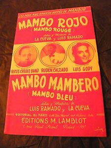 Partitura-Mambo-Rojo-De-Rico-Creole-Band-Ruben-Calzado-Mambo-Mambero-Luis-Gody