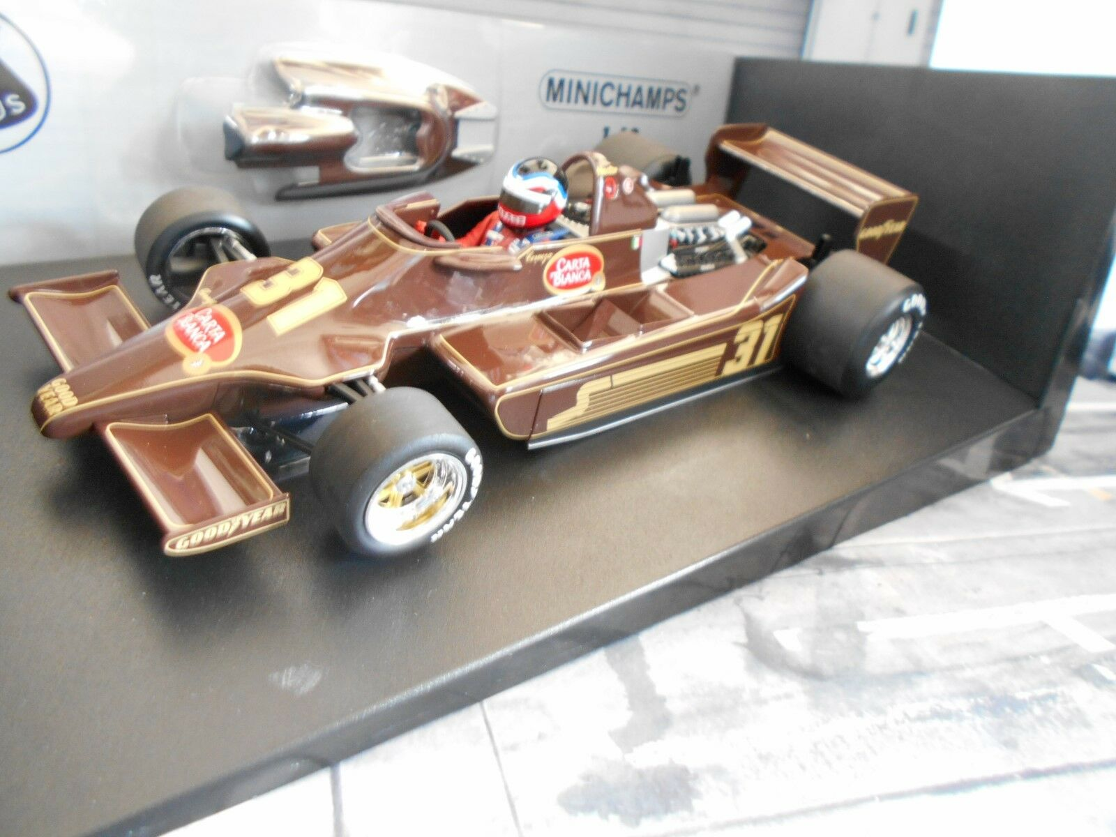F1 LOTUS 79 Ford Cosworth Cosworth Cosworth Hector Rebaque 1979  RAR Minichamps 1 18 ea2166