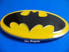 Dc Comics Batman Superhero Yellow enamel Black Metal Mens/Women Belt Buckle NEW