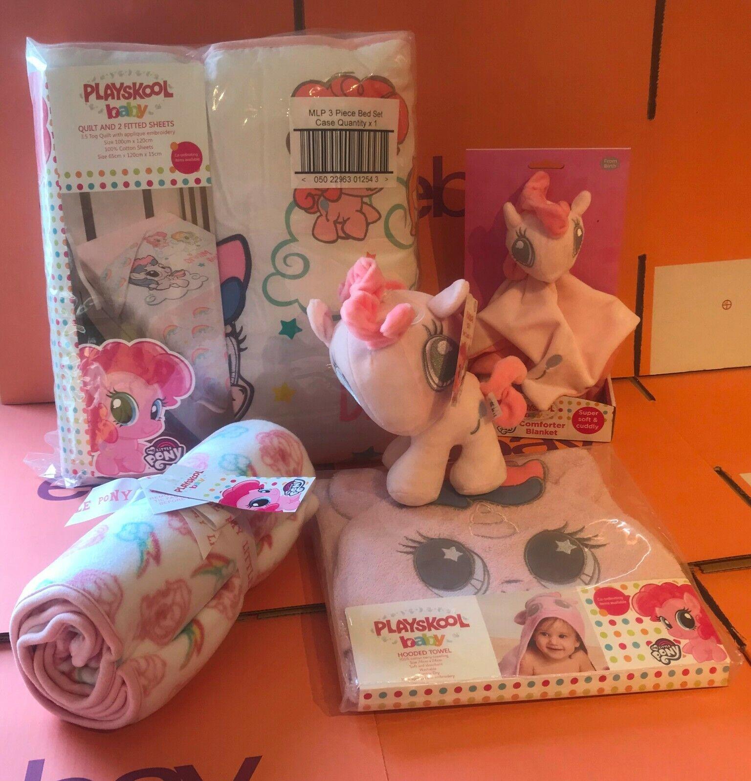 Playskool My Little Pony Newborn   Baby Gift Bundle Bedding Comforter Cuddle Toy