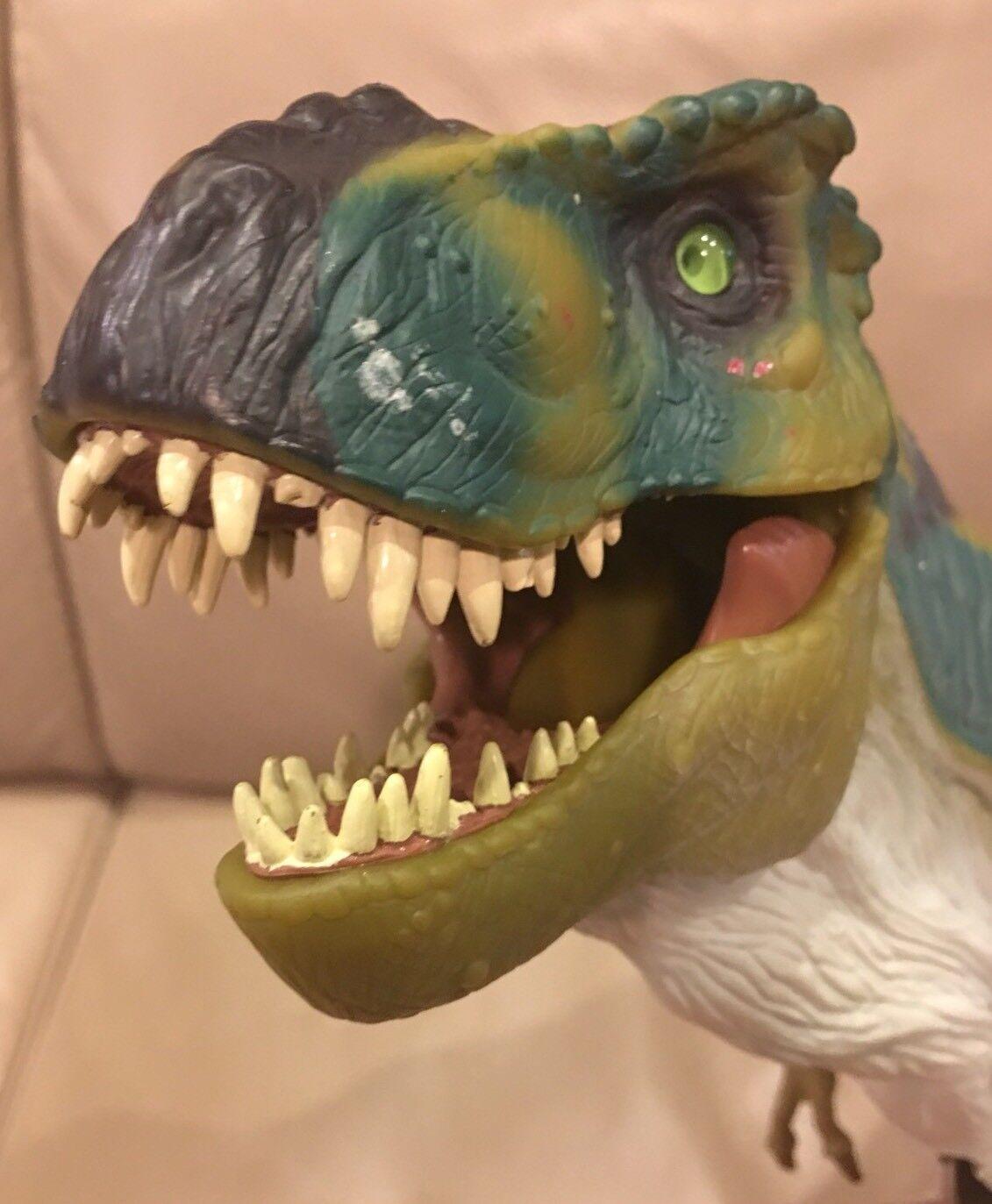 Jurassic Park The Lost World JP28 TRex Dinosaur SOUND Grün 1997 Hasbro RARE
