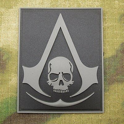 Assassin's Creed Black Flag Tactics Morale 3D PVC Velcro Patch