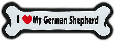 Dog Bone Magnet: I LOVE MY GERMAN SHEPHERD | Dogs Doggy Puppy | Car Automobile