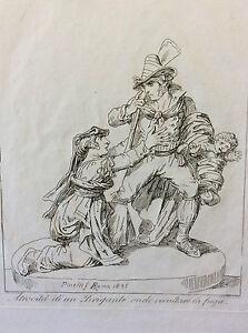 Bartolomeo-PINELLI-1781-1835-Roma-1834-estampe-Italie-XIXe-Brigante