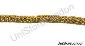 GOLD NAVAL LACE BRAID BULLION WIRE METAL 50MM UNIFORM TRIM GALLON NAVY OFFICER