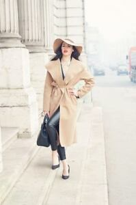 Ladies-Womens-New-Long-Autumn-Winter-Waterfall-Wrap-Duster-Trench-Belted-Coat