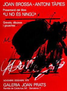 ANTONI-TAPIES-Galeria-Joan-Prats-Barcelona-1979-Farblithographie-signiert