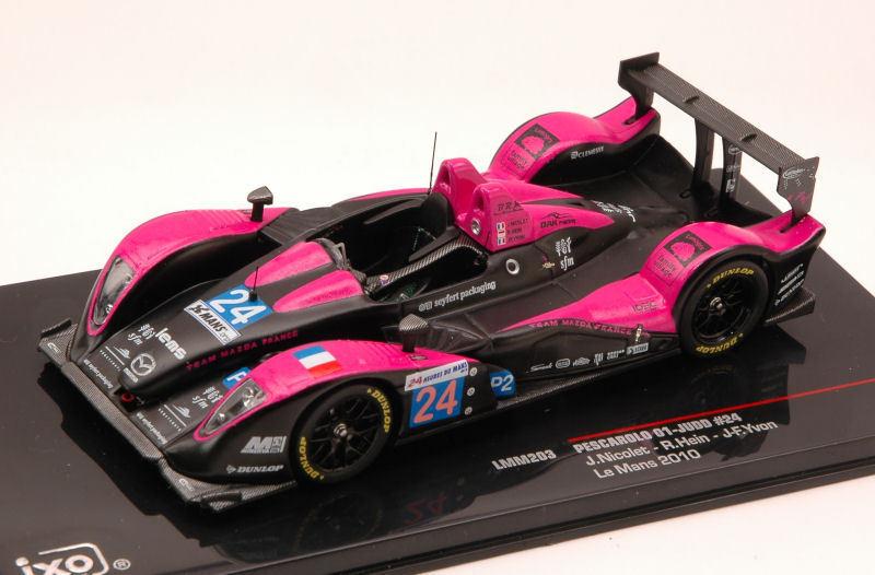 Pescarolo 01-Judd  24 9th Le Mans 2010 Nicolet   Hein   Yvon 1 43 Model LMM203