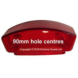 Genuine SMC RAM 250e Barossa 250 Rear Light Lens - 90mm Hole Centres Quad Parts